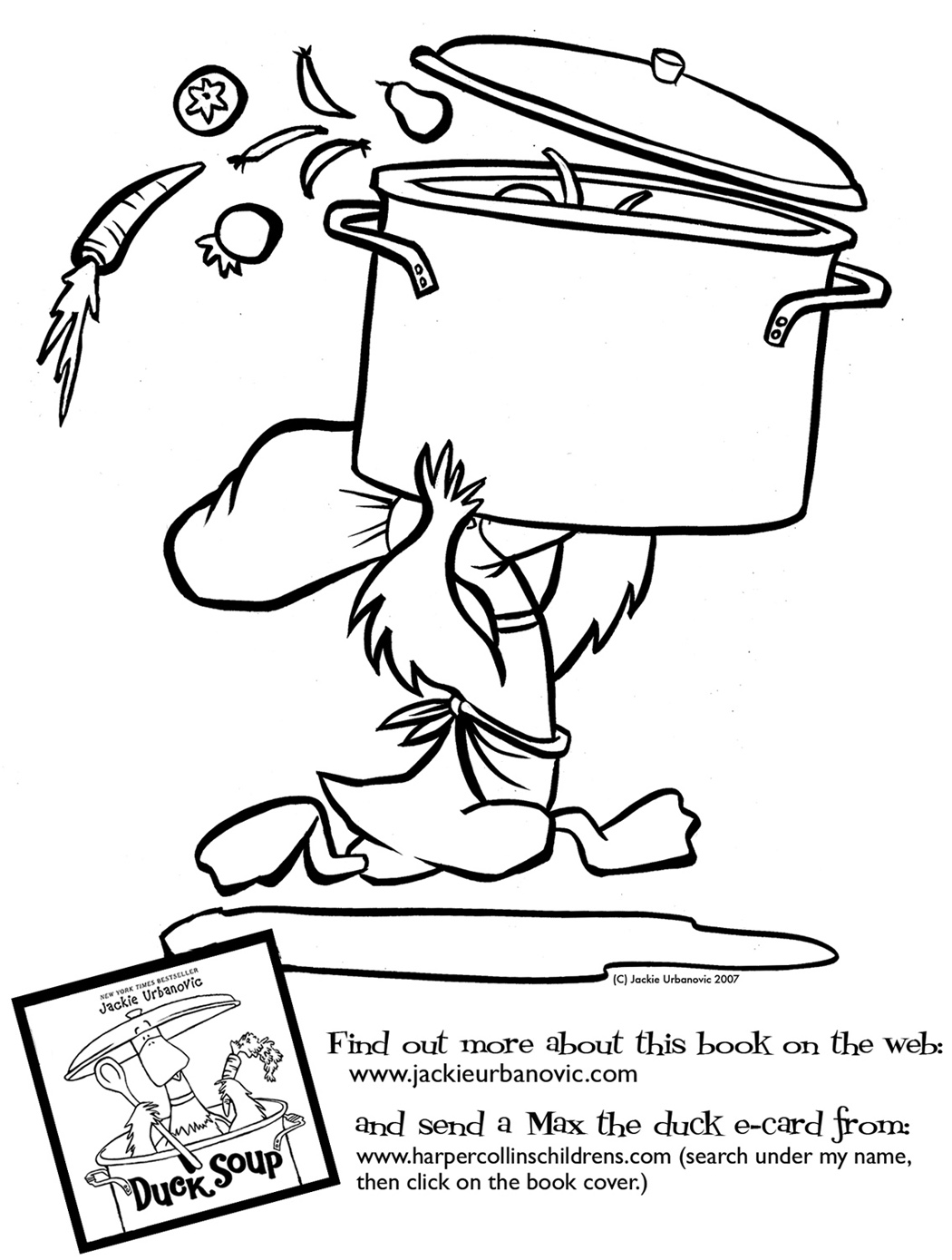 Coloring Pages Sitting Duck Soup